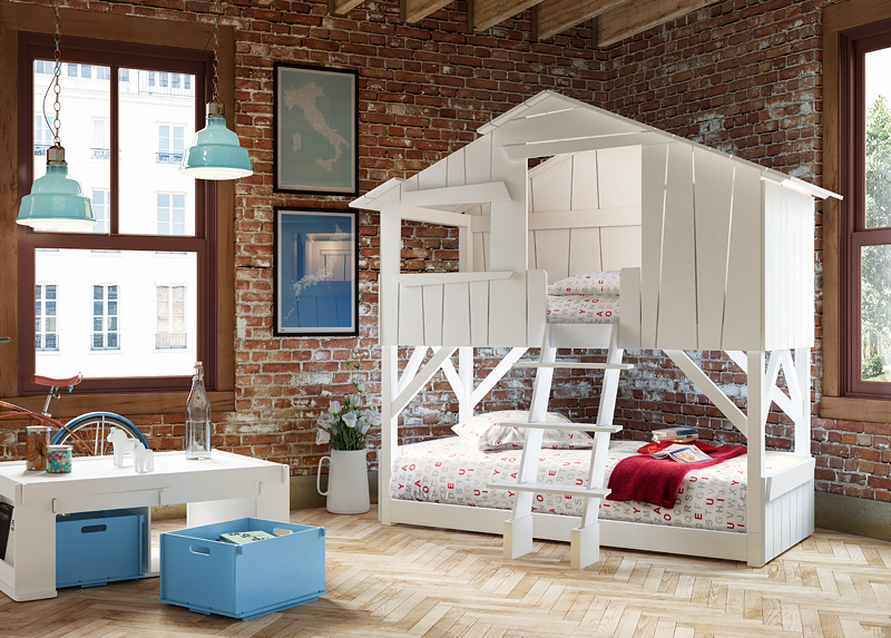 Mathy by Bols Кровать THREEHOUSE BUNK