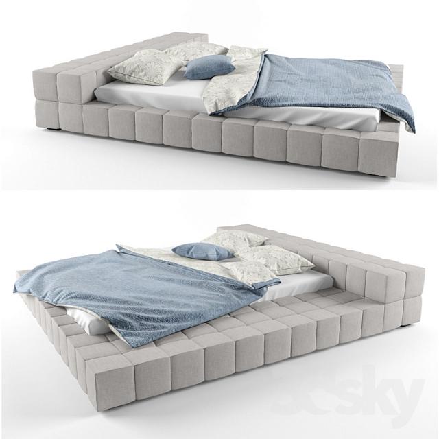 Неординарная кровать Squaring от Bonaldo (Италия)