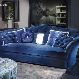 Синий итальянский диван от BM style в наличии в Украине