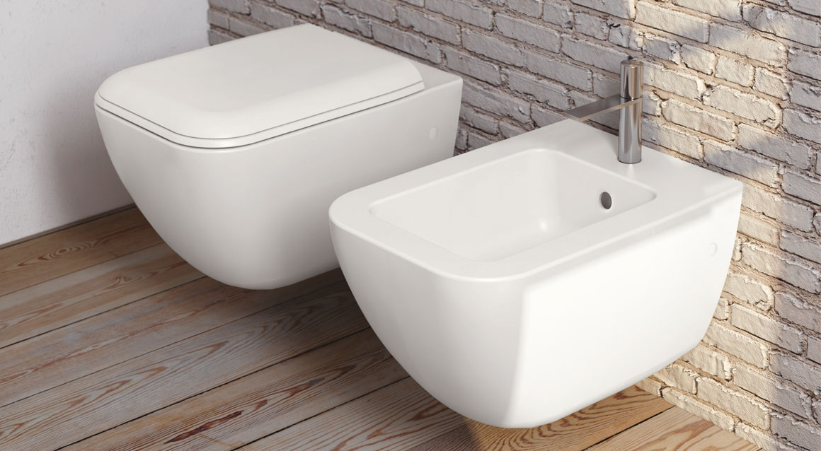 Ceramica Cielo Биде Shui Comfort — Wall-hung one hole bidet