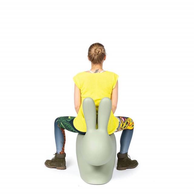 Qeeboo (RU) Стульчик Rabbit Chair – Qeeboo – Dove Grey