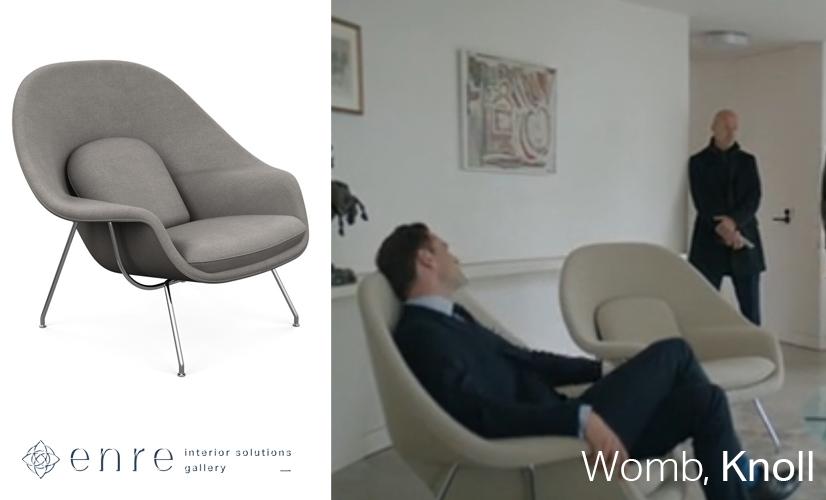 Дизайнерская мебель в фильмах
