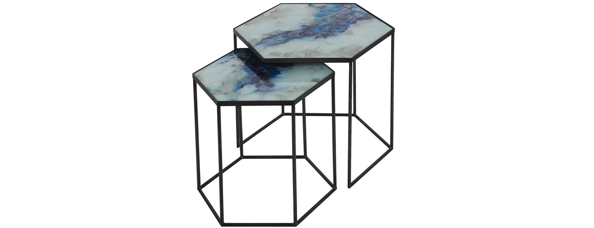 Ethnicraft Кофейный столик Hexagon Cobalt от Ethnicraft