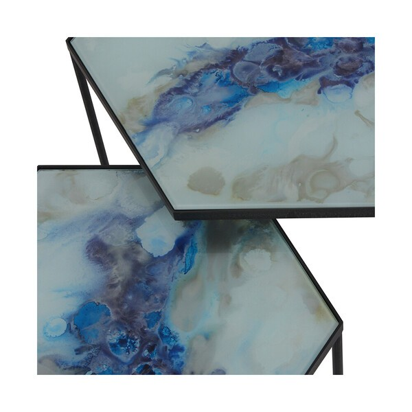 Ethnicraft (RU) Кофейный столик Hexagon Cobalt от Ethnicraft