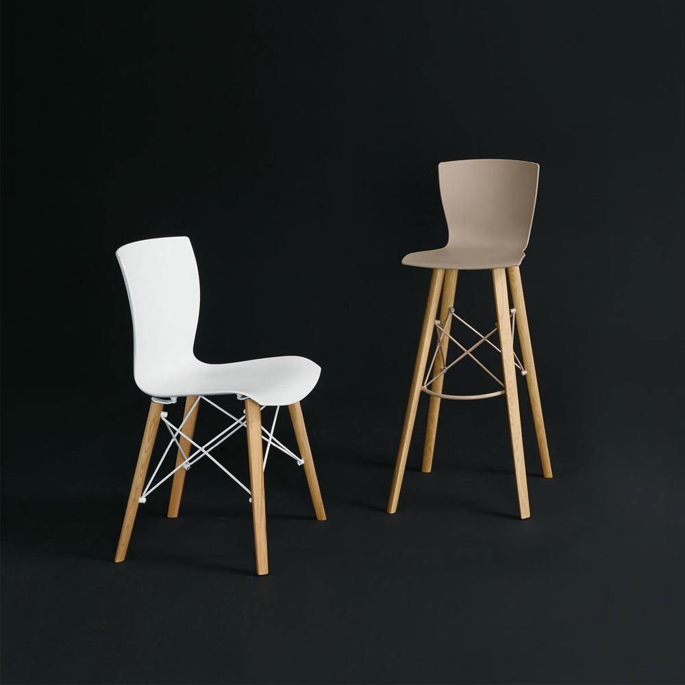Colico (RU) Барный стул RAP Wood ss от итальянского бренда Colico